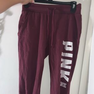Pink tight joggers